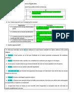 ARGUMENTATION exercices