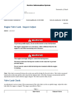 D5 CAT Engine Valve Lash - Inspect-Adjust
