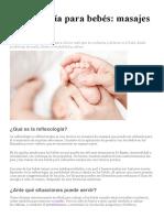 Reflexología para bebés