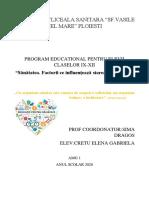 EDUCATIE PENTRU SANATATE REFERAT