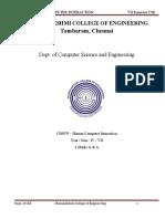 CS8079 - HCI QB UNIT1