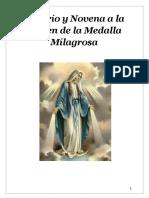 Santo Rosario Y Novena a la Virgen Milagrosa 2019 acordes