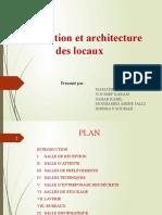 Conception et architecture des locaux 27 02 2020