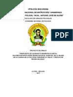 PROPUESTA DE UN REGISTO BIOMETRICO DIGITAL PALAMETOSCOPICO PARA NEONATOS EN EL HOSPITAL DE LA MUJER DE LA CIUDAD DE LA PAZ PARA PREVENIR LA TRATA Y TRAFICO DE RECIÉN NACIDOS