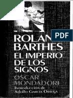 Barthes, R. (1970) .El imperio de los signos.