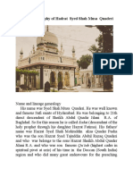 The brief  biography of Hadrat Syed Shah Musa Quaderi Hyderabad