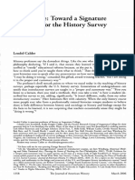 3 Uncoverage Toward a Signature Pedagogy for the History Survey