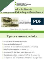 Aula 02 - Histórico da questão ambiental