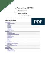 Astronomy HOWTO