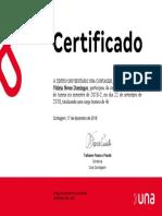 Certificado capacitação de líderes