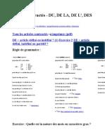 Articles contractés