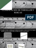 Diapositivas de Clasificación de Tornillos y Roscas