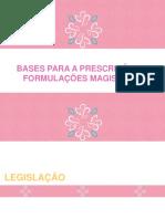 Bases Para Prescrição de Formulações Magistrais