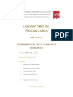 PRACTICA 2 LABORATORIO DE FISICOQUIMICA