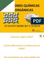 5 - FUNCION QUIMICA HIDRUROS, ACIDOS Y SALES