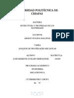 Análisis de propiedades mecánicas