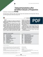 Risk Factors for Delayed Extubation