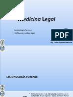 Semana 02 MEDICINA LEGAL Lesionología Forense y calificación médico legal