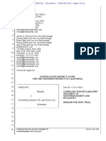 Apple v IXI Mobile Declaratory Judgement of Noninfringement & Invalidy