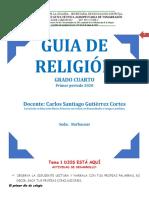 GUIA DE RELIGION grado cuarto 2020