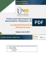 Presentacion de la planeación y Organización