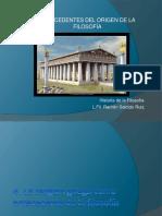 La religión griega y su contribución al origen de la Filosofía (Lic. Filosofía Ramón Salcido)