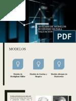 Análisis de modelos económicos para valuación de empresas