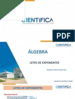 Álgebra - Leyes de exponentes quijano