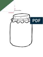 Recorta el frasco por el borde del dibujo