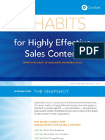7 Habits for Highly Effective Sales Content