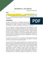 ORDENAZA DE APROBACION DEL RAS Y CUIS ACTUALIZADO
