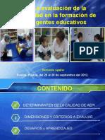 5. La evaluacion de calidad en formacion de agentes educativos-bernardo aguilar