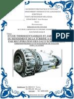 Etude Thermodynamique Et Amélioration Du Rendement De La Turbine A Gaz Ms5002c Par Récupération Des Gaz D'échappement Dimensionnement D'un Echangeur De Chaleur Tubes Calandres.pdf