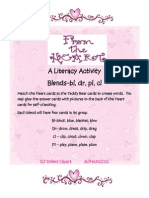 February Literacy Center Blends Cover Page