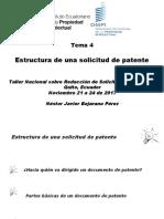 4. Estructura de Una Solicitud de PatenteNESTOR BEJARANO (Patentes)