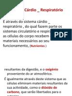 Sistema Cárdio _ Respiratório