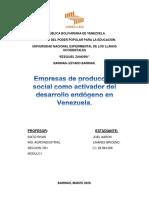 Empresas de producción social como activador del desarrollo endógeno