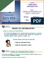 Clase Virtual Hab Matemática Orden de Información, Lineal y Circular - 5to Grado - Sin Audio - Copia (1)