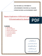 Report of Application of differential equation in L-R and