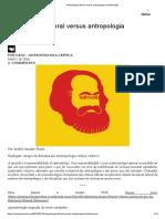 Antropologia liberal versus antropologia da libertação