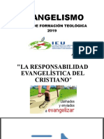 LA RESPONSABILIDAD  EVANGELÍSTICA DEL  CRISTIANO