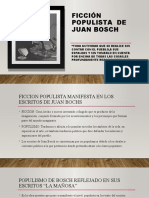 FICCIÓN  POPULISTA  DE JUAN BOSCH