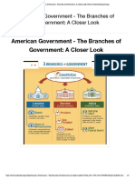 american government - branches of government  a closer look fourth grade reading passage