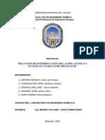 INFORME N°4 -REACCION DE ESTERIFICACION DEL ACIDO ACETICO Y ETANOL EN UN REACTOR BATCH