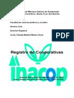 REGISTRO DE COOPERATIVAS