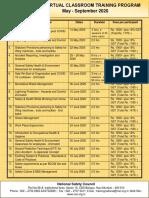 NSCI'S VIRTUAL CLASSROOM TRAINING PROGRAM