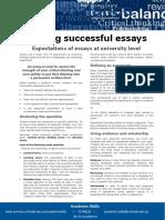 Writing Successful Essays Update 051112