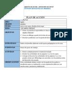 Plan de accion Ingles 8° el presente simple