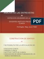 ANALISIS DE LAS ENTREVISTAS