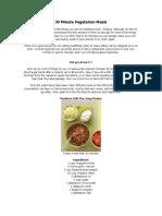 30 Minute Vegetarian Meals Ok